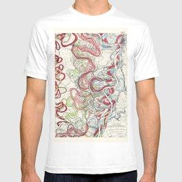 Vintage Map of the Mississippi River T-shirt