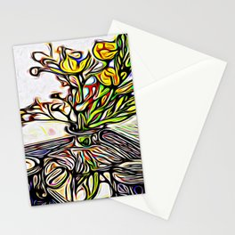 Shadow Flowers Stationery Cards