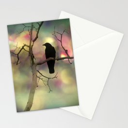 Crow Dreams In Colors Stationery Cards