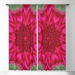Fluid Nature - Pink Rose Mandala - Kaleidoscope Design Blackout Curtain