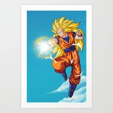 Goku SS3 Art Print