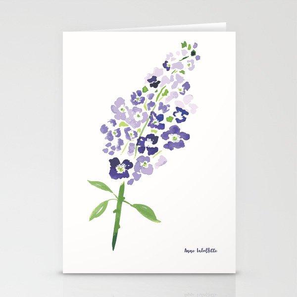 Delphinium Stationery Cards