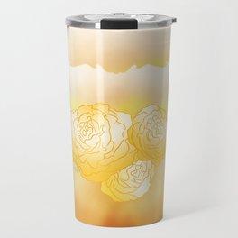 Begonias pattern design Travel Mug