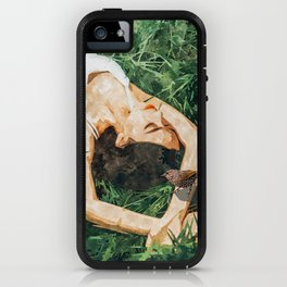 Jungle Vacay #painting #portrait iPhone Case