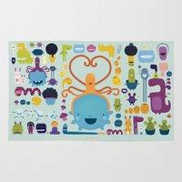 best friends Area & Throw Rugs featuring Best Friends by Piktorama