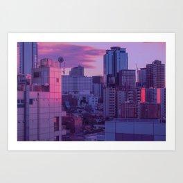 Tokyo Never Sleeps Art Print
