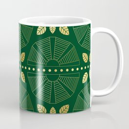 Emerald Art Deco Fan Coffee Mug