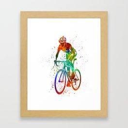 Woman triathlon cycling 05 Framed Art Print