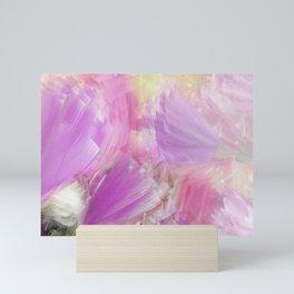 Jungle Flowers in Lilac Mini Art Print