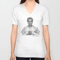 oitnb V-neck T-shirts featuring Crazy Eyes from OITNB by nilelivingston