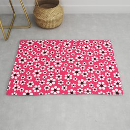 Dizzy Daisies - pink punch Rug