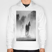 horses Hoodies featuring Horses  by Gracy Dreamscape