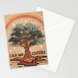 Calm and centered Stationery Cards