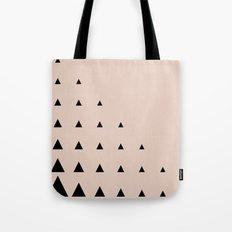 Black Triangles on Blush Tote Bag