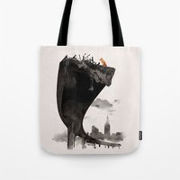 the last of us Tote Bags featuring The Last of Us by Robert Farkas