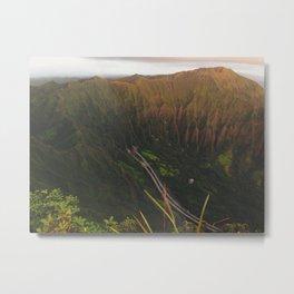 Morning Light On The Ko'olau Mountain Range Metal Print
