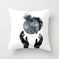 howl Throw Pillows featuring Howl by M. Vander