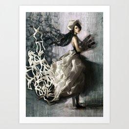 Paperdress Art Print