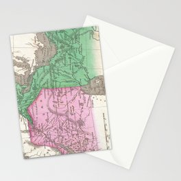Vintage Map of Ontario and Quebec (1827) Stationery Cards