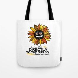 Cool Sunflower - Retro Glasses Tote Bag