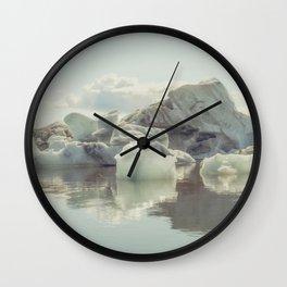Icebergs XIII Wall Clock