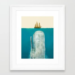 The Whale - colour option Framed Art Print