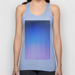 blue pink ombre color gradient abstract pattern Unisex Tank Top