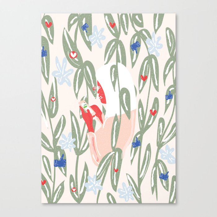 Planting The Social Life Canvas Print