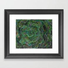 Peacock Rose Abstract Framed Art Print