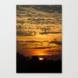 Cloudy Colored Sky Canvas Print
