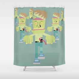 Franken-Zombie Shower Curtain