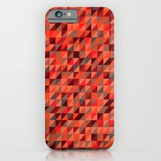 Quilted Reds / Retro Triangles iPhone 6s Slim Case