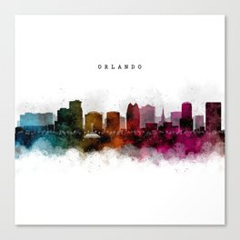 Orlando Watercolor Skyline Canvas Print