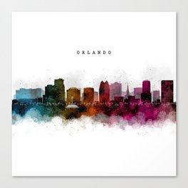 Orlando Watercolor Skyline Canvas Print