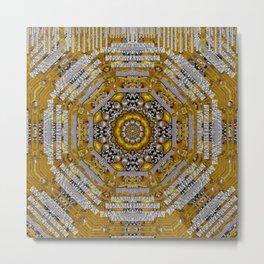 Mandala pattern with metal Metal Print