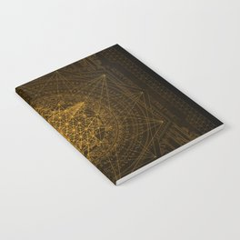 Dark Matter - Gold - By Aeonic Art Notebook