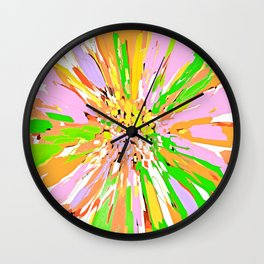 Spring Dahlia Abstract Flower Wall Clock