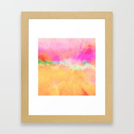 Modern Pastel Rainbow Cascade Abstract Framed Art Print