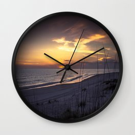 Cape San Blas Sunset  Wall Clock