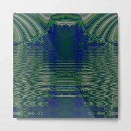Best is yet to come (Fractal Lake Mirror) Metal Print