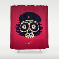 che Shower Curtains featuring Che by mangulica illustrations