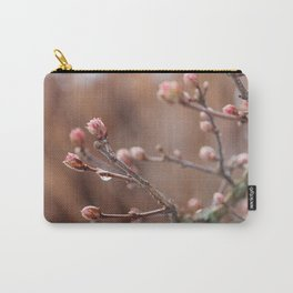 New Life -  Fresh Spring Buds after rain, Rose and earth tones, Nature Photography Macro Carry-All Pouch
