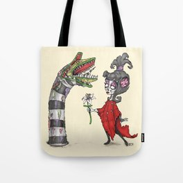 Lydia and the Sandworm Tote Bag