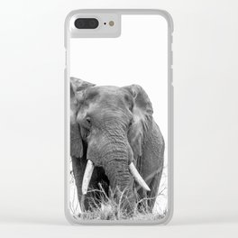 African Elephant on a Hill Clear iPhone Case