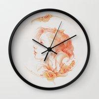 matty healy Wall Clocks featuring Vintage by Jennifer Healy