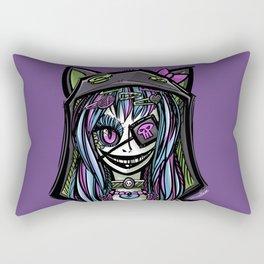 Scary Harajuku Girl Rectangular Pillow