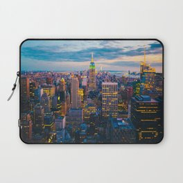 New York City, Manhattan at night Laptop Sleeve
