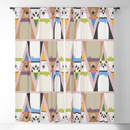 A Sleuth of Bears (Patterns Please) Blackout Curtain
