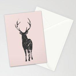Plain deer modern art Stationery Cards