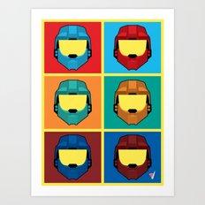 Warhol's Red vs Blue Art Print